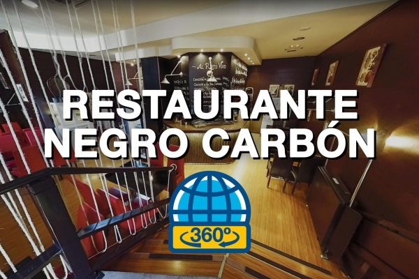Tour Virtual 360 del Restaurante Negro Carbón