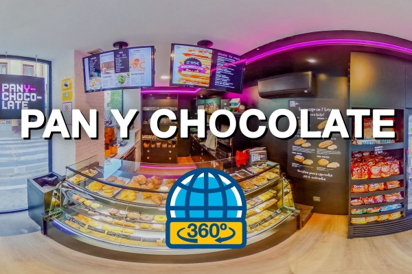 Tour Virtual 360 para Pan y Chocolate
